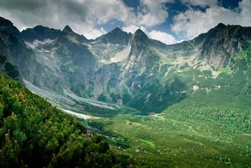 View into a mountain valley