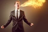 Man spits fire