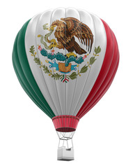 Hot Air Balloon with Mexican Flag (clipping path included)