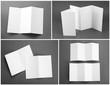 blank white folding paper flyer - 81716317