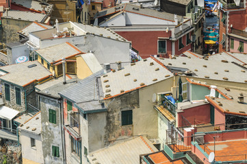 idyllische Dorfansicht in Italien