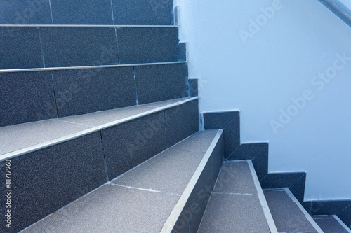 Leinwanddruck Bild marches d'escalier extérieur