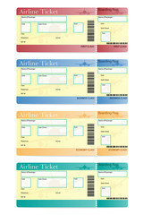 airline ticket vector illustration