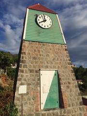 Saint-Barthélemy, St Barth torre orologio Gustavia, caraibi