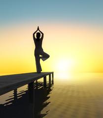 Sonnengruß - Yoga am Meer