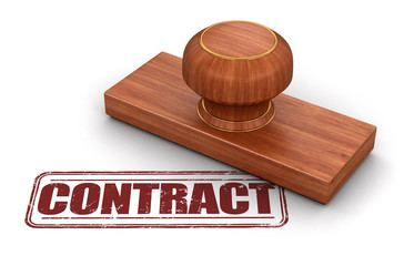 Stamp contract.  Image with clipping path