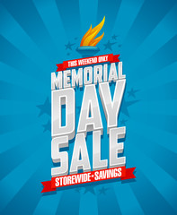 Memorial day sale, storewide savings.