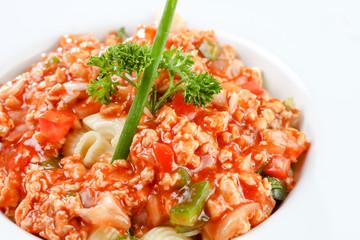 Stir-fried macaroni