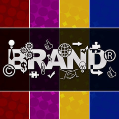 Brand Various Symbols Colorful Background