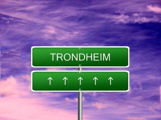 Trondheim City Norway Sign