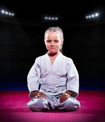 Little girl aikido fighter