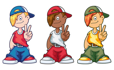 Hip Hop Cartoon Boy Set