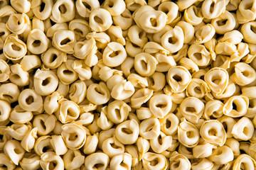 Background texture of Italian tortellini pasta