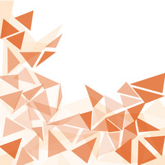 orange triangles abstract background