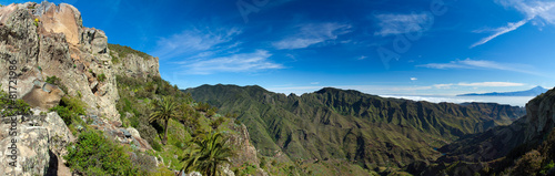 Leinwandbild Motiv La Gomera, veiw towards Teide