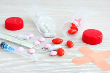 spilled pills medicine