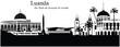 Vector illustration of the skyline / cityscape of Luanda, Angol