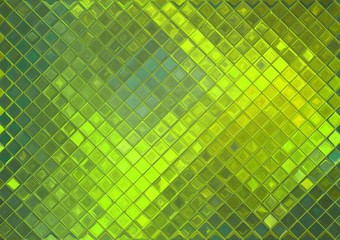 Toxic green mosaic, abstract tile background