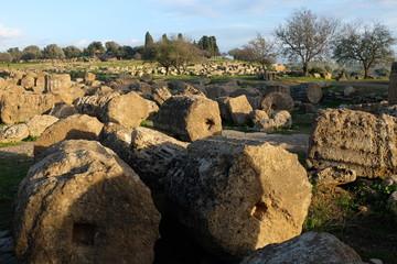 Agrigento Säulenfragmente