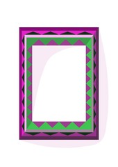 Lilac green angular frame in op art style