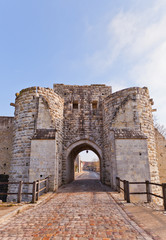 Saint Jean Gate (XIII c.)  in Provins France. UNESCO site