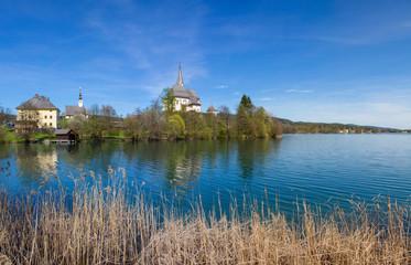 Lake Woerth View To Maria Woerth Church