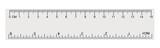 White transparent ruler isolated inch centimetre, centimeters - 81725776