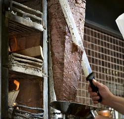 Slicing Doner Kebab