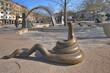 Leinwanddruck Bild - Fürth, Paradiesbrunnen, #0292
