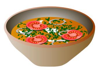 Vector illustration. Soup.
