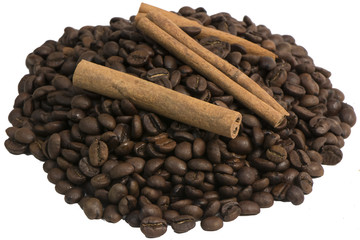 горка кофе и корица