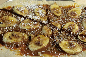 Postre de banana y caramelo