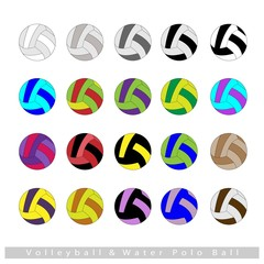 Set of Volleyball Balls or Water Polo