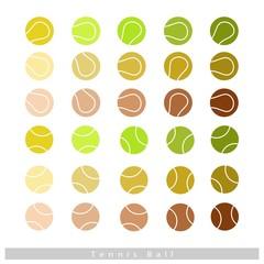 Set of Tennis Balls on White Background