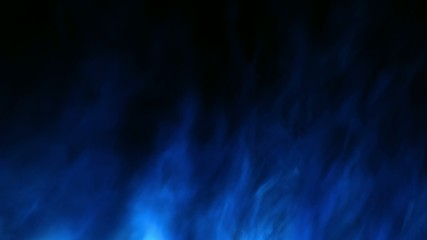 Panning blue fractal fire background with loopable end section
