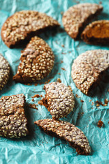 Healthy Fresh Baked Cookies with Sesame