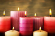 Many candles close up - 81730927