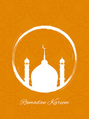 Beautiful Ramadan Kareem background design.