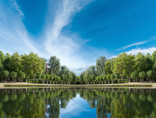 Palace garden pond