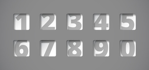 Perforated plate with numbers