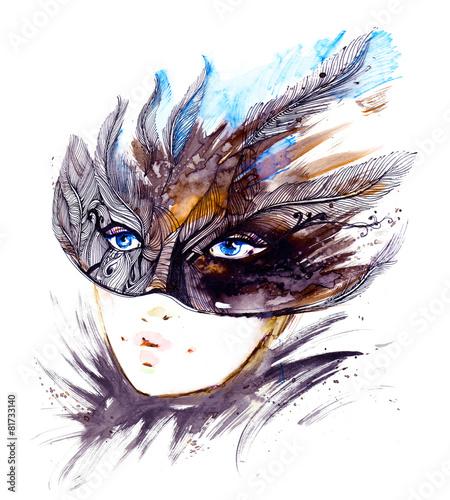 Foto op Plexiglas Carnaval masquerade