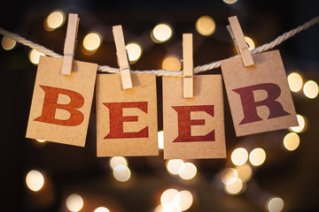 Beer Concept Clipped Cards and Lights