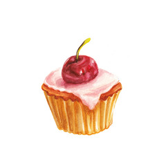 watercolor cherry cake
