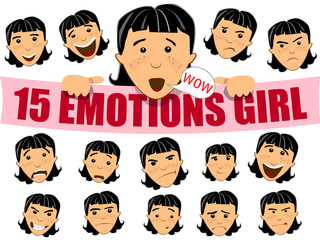 Emotions girl face