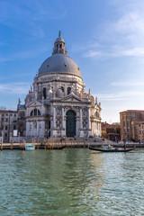 Grand Canal and Basilica Santa Maria della Salute in Venice, Ita