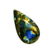 Labradorite stone isolated on a white - 81737129