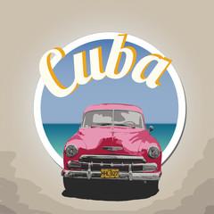 Vintage Sticker Cuba