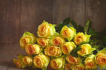 Bouquet of yellow roses.