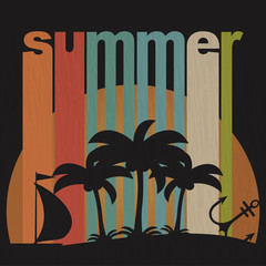 Grunge summer holiday background