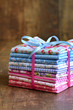 Pile of colorful folded textile. - 81739128